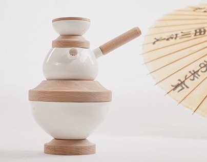 Altar: ceramic tea set for sole usage