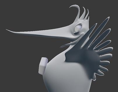 Woodpecker - 3d sculpture