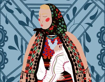 Romanian girl - Digital Illustration