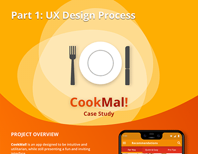 CookMal! Recipe App - Part 1: UX Phase