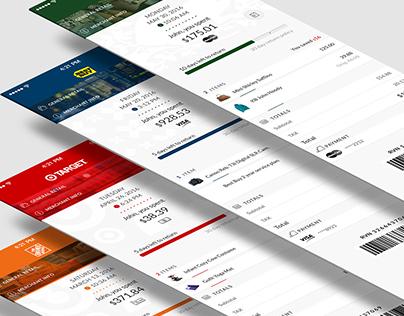 Sensibill IOS app design and branding