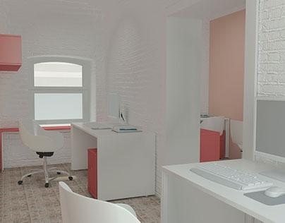 Ресепшн салона красоты и Дизайн-проект офисного центра