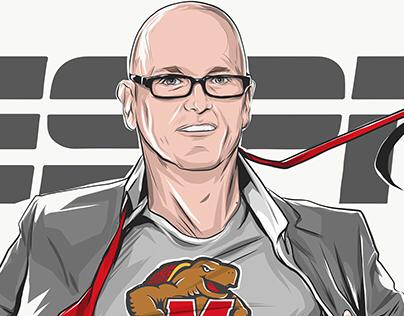 ESPN: Scott Van Pelt's SC Appearance & Illustration