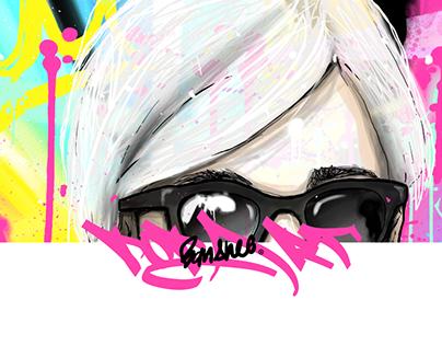Warhol portrait Pop Art Series