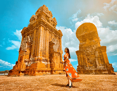 Thap Doi Quy Nhon - Dia Diem Du Lich Noi Tieng
