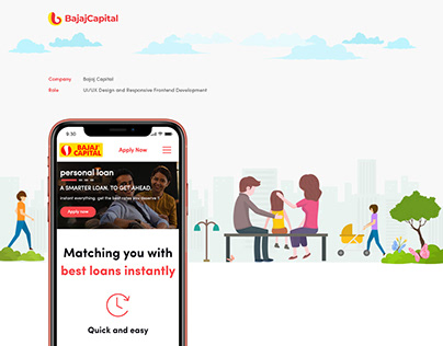 Bajaj Capital Loan Landing Page