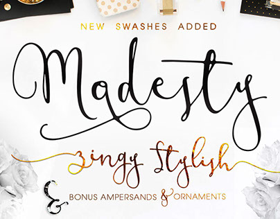 Modesty Font Freebie Modern Calligraphy Script on Behance – Free Calligraphy Fonts for Wedding Invitations