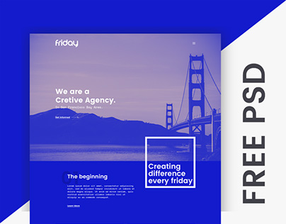 Free PSD - Firday Web Template