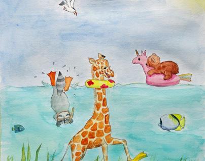 It's so fun to be a Giraffe!