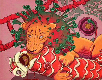 a virus lion