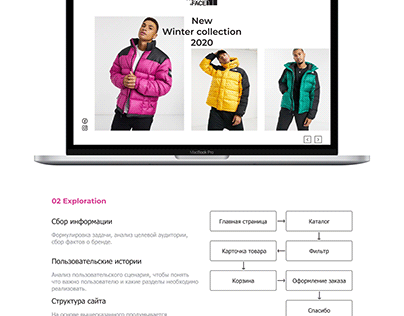 Редизайн сайта The North Face