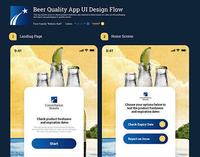 IOS App Design concept to check quality of a beer