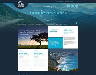 Rowerzysta Podróżnik - web page redesign