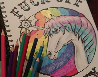 Illustration/Zeichnung Unicorn
