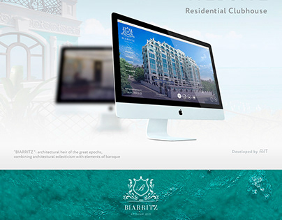 Website development for residential clubhouse Biarritz