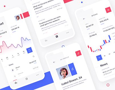 Cryptolytics - Mobile app concept