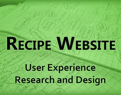 Recipe Website UX