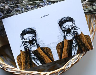 Serias of postcard