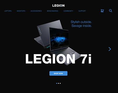 Legion Landing Page Redesign