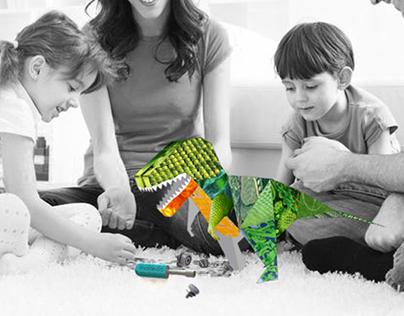Mix & Match Pattern Dinosaur kit