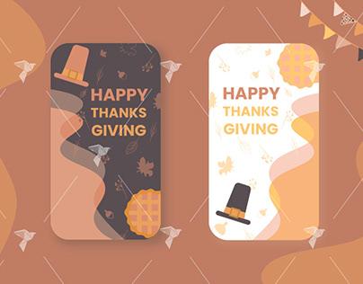 Thanksgiving Instagram Screens Design