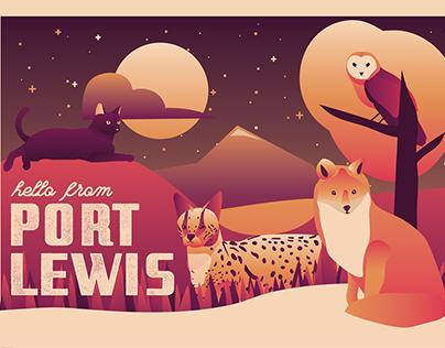 Port Lewis Postcard