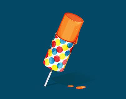 Push pop illustration {Adobe Illustrator}