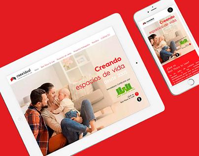 Desarrollo de página web para Casa Ideal