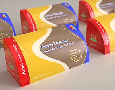Amul Cheese Triangles | Packaging and Branding
