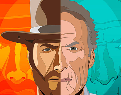 Commission: Clint Eastwood Thumbnail Illustration