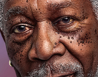 Morgan Freeman - Digital Portrait
