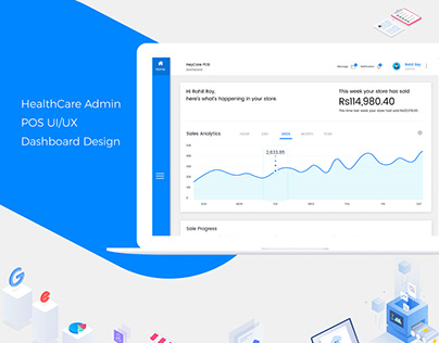 HealthCare Admin POS UI/UX Dashboard Design