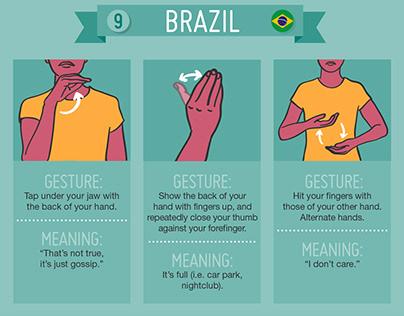 Around the World in 42 Hand Gestures