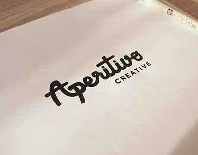 Custom script logo concept for a small business.