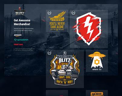 WoT Blitz Merch Page