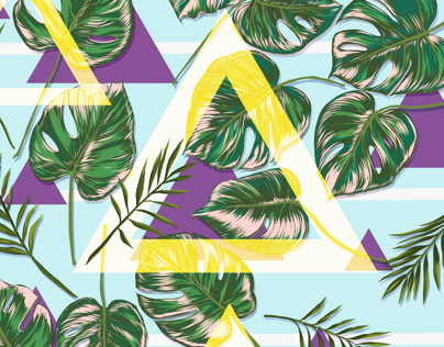 Monstera : floral ornament