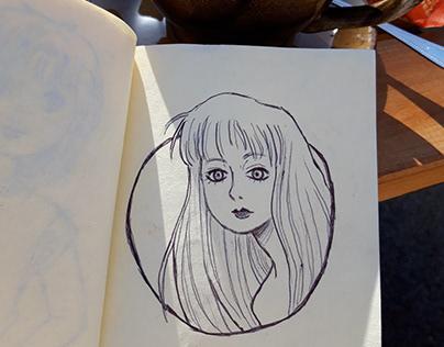coffee shop doodle