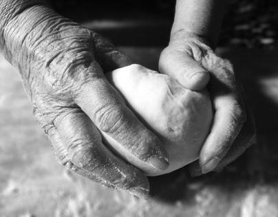 Hands of my grandma.