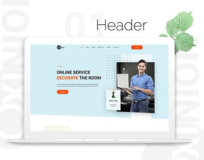 Interior Designer Landing Page Designing