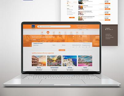 Sugestão de interface para o programa de viagens Itaú