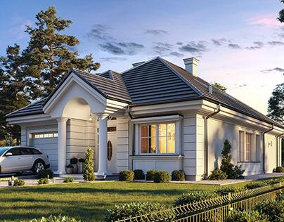Projekt Dom na parkowej 7 B
