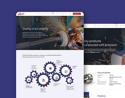 Ankit Aerospace Website Design