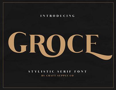 Groce - Stylistic Serif Font (Free Download)