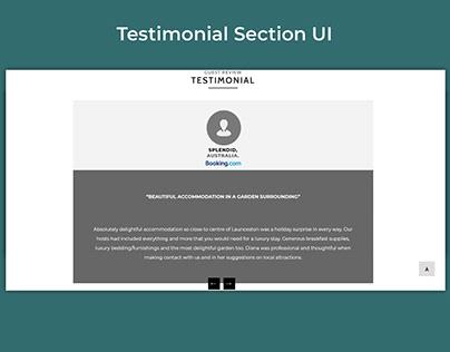 Testsimonial Section design