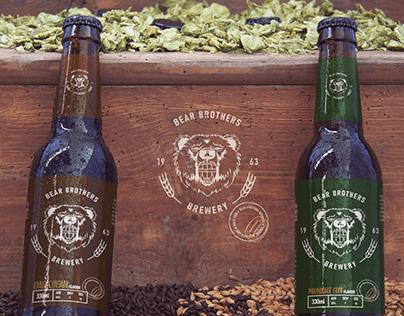 Brand Identity Design | BEAR BROTHERS BREWERY
