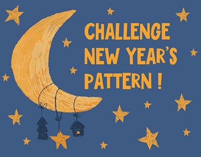 Challenge New year's pattern