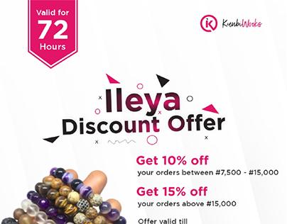 Because its ileya! flier design created for kunbiworks.