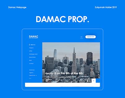 Real Estate Webpage(Damac Prop.) - UX/UI