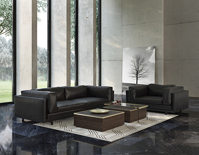 Set of furniture of modern upholstered furniture