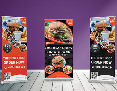 FOod Rollup Banner